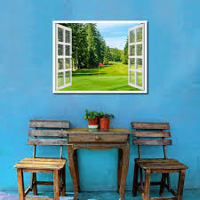 Home Decor Vancouver by Vancouver Canada Golf Course View 3d Window Wall Art Home Decor