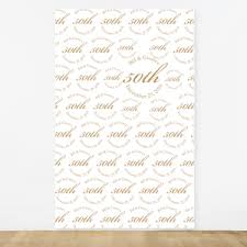 50th wedding anniversary personalized photo backdrop 50th