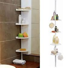 Telescopic Bathroom Shelves 4 Tier Adjustable Telescopic Corner Rack Shower Bathroom Shelf