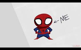 cute spiderman cartoon drawing