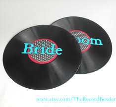 rock n roll wedding theme record decorations colored vinyl