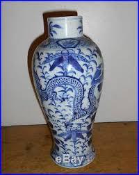 Blue And White Vases Antique Antique 18th 19thc Chinese Vase Jar Blue U0026 White Kangxi Porcelain