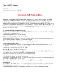 arcweld 200i manual e books portable document format