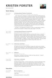 Vet Tech Resume Samples by Research Assistant Resume Sample Jennywashere Com