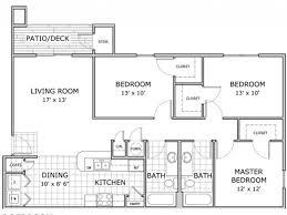 three bedroom flat floor plan 3 bed 2 bath apartment in springfield mo hawthorn suites