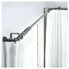 l shaped curtain rod curtains shaped curtain rods