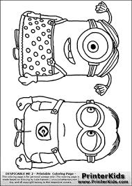 despicable 2 minion 8 minions standing coloring