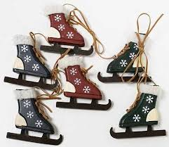 primitive wooden skates ornament ornaments