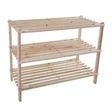 amazon com wood shoe rack storage bench u2013 closet bathroom