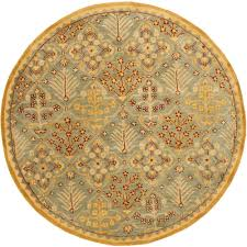 light blue round area rug safavieh antiquity light blue gold 4 ft x 4 ft round area rug