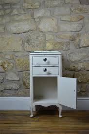 white bedside bathroom cabinet handpainted vinterior
