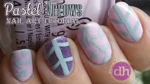 pastel arrows very easy nail art tutorial youtube