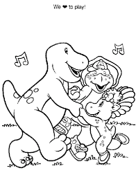 barney dinosaur coloring pages barney dinosaur coloring pages
