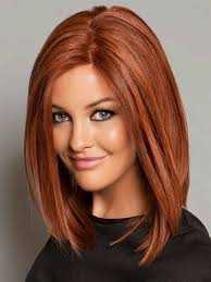 long bob hairstyles with low lights medium length straight bob with chestnut red hair color and low