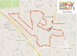Race Map Usa by Gate City Sun Run 5k Lawndale Baptist Church Greensboro Nc