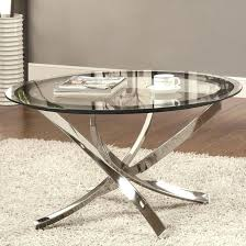 Glass Sofa Table Modern Glass And Silver Coffee Table Outstanding Silver Metal Coffee
