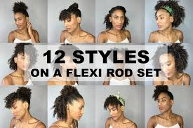 black rod hairstyles for 2015 12 easy and quick hairstyles on a flexi rod set natural afro