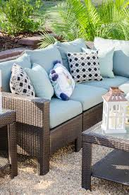 home depot outdoor decor gravel patio makeover with home depot outdoor wicker furniture