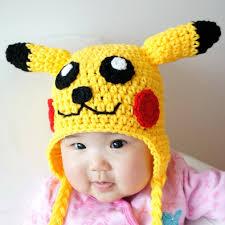 pikachu hat pokemon crochet baby hat baby hat animal hat