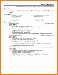Cleaning Job Description For Resume by House Cleaning Resume Examples Resume For Your Job Application