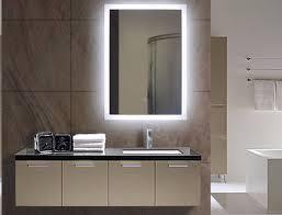 lighted bathroom wall mirror large sensational inspiration ideas lighted bathroom wall mirror back