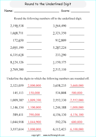 printable rounding off numbers and decimals worksheets and