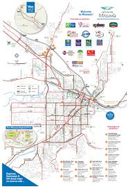 Montana Highway Map Maps Destination Missoula