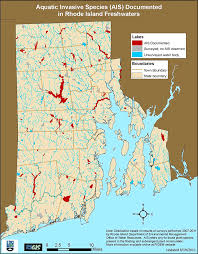 Rhode Island lakes images Invasive species indicator watershed counts gif