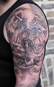 38 best religious shoulder tattoos for men images on pinterest