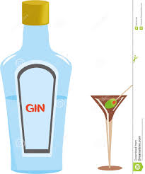 blue martini clip art gin bottle and martini glass royalty free stock images image