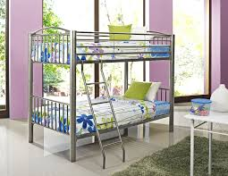 amazon com powell heavy metal pewter twin over twin bunk bed