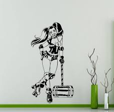 Harley Home Decor Harley Quinn Wall Decal Roller Derby Dc Marvel Comics