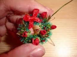 how to make a miniature christmas wreath miniature christmas