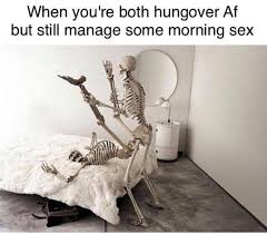 Memes For Sex - hungover morning sex meme