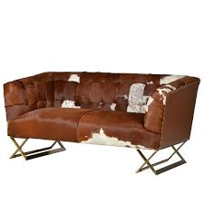 Cow Leather Sofa Dallas Cowhide 2 Seater Sofa Shropshire Design