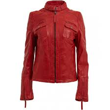 red and black motorcycle jacket womens red leather motorcycle jacket ladies quilted biker jacket