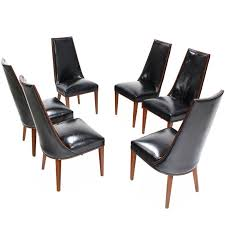 Modern Leather Dining Room Chairs Fine Dining Room Chairs Leather Dohatour On Decorating Ideas