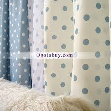 White Curtains With Blue Pattern Sweet Polka Dots White And Blue Room Curtains Buy Blue Kid Teen
