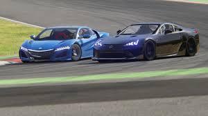 youtube lexus lfa vs nissan gtr battle honda nsx vs lexus lfa track edition racing at barcelona