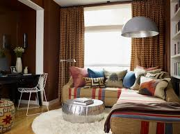 Mixing Leather And Fabric Sofas by Marvelous Leather Pouf In Living Room Contemporary With Glass