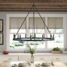 Iron Ring Chandelier Wrought Iron Candle Chandelier Wayfair