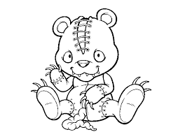 Scary Coloring Pages Best Coloring Pages For Kids Scary Coloring Paes
