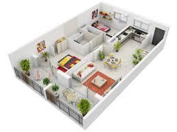 3d apartment concept căn hộ 2 phòng ngủ mặt bằng 3d 1 kiến trúc nhà ngói