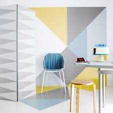 wonderful wall murals to transform your room ideal home geometric wall mural