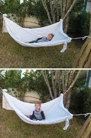 homemade hammock genius diy hammock bed sheets and backyard