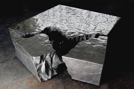 Space Coffee Table Sleek Fragmented Coffee Table Recreating Your Living Space