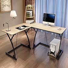 Desk For Desktop Computer by Amazon Com Soges L Shaped Desk Computer Desk Multifunctional