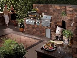feng shui harmonious backyard garden with a bbq and natural stone