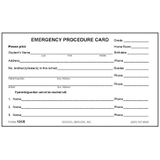 6 emergency contact template procedure user manual word template