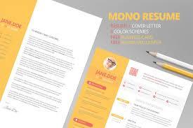 Free Business Resume Templates Mono Resume Cv Free Business Card Resume Templates Creative